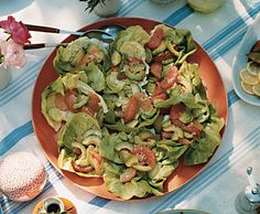 avocado and grapefruit butter lettuce salad recipe. sub sesame oil for the walnut called for here.