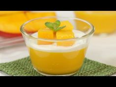 Mango Pudding - Cooking with Dog