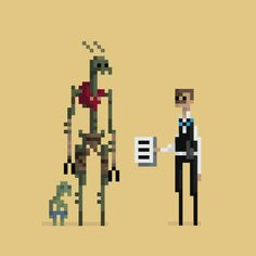 District 9. | 18 Wonderfully Geeky 8-Bit GIFs Of Classic Movies