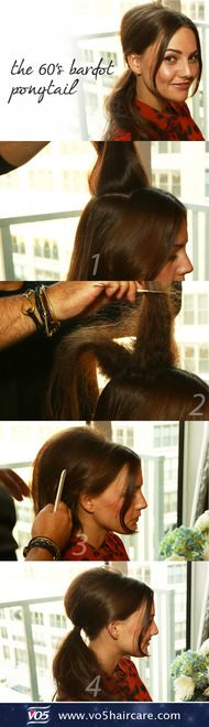 how to: 60's bardot ponytail