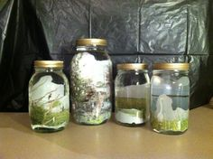 www.amidphotography.com  Mason Jars, mineral oil and pictures