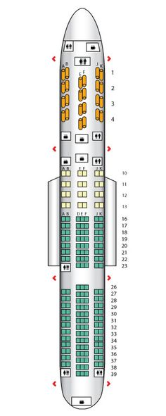 Seat plan for the #BritishAirways B767-300
