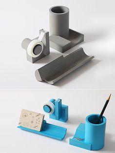 MERGE Concrete Desk Set by Sean Yu and Yiting Cheng | moddea
