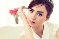 Lily Collins - Lancome photoshoot