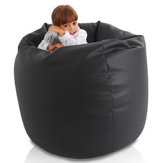 Leather Bean Bag Chair, Big, Furniture, Home Decor, Decoration Home, Room Decor, Home Furnishings, Home Interior Design, Home Decoration