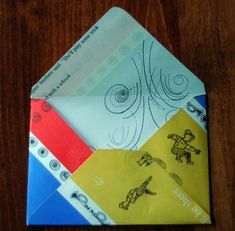 Templates: DIY Wedding Envelope from Vintage Books