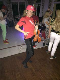 @elsamartignoni#hiphop #style dance & violin super violinist at party in red #france #cannes