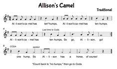 Allison\'s Camel - lesson ideas All Through the Night - lesson ideas Atadwe - The \'response\' is BAG - lesson ideas Au Clair de la Lune Babylo...