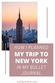 New York: Traveling Bullet Journal, Vol. 3. Here's how I planned out my trip to New York City in my Bullet Journal. Going on a trip soon? Ready to plan your vacation? Check out these useful travel collections for your Bullet Journal! #travelplanning #traveljournal Bullet Journal Travel, Bullet Journal Layout, Bullet Journal Inspiration, Journal Ideas, Plan My Trip, Going On A Trip, Travel Memories, New York Travel, Trip Planning