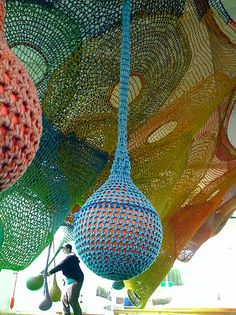 """""""Castle of Nets"""" play structure/sculpture designed by Toshiko Horiuchi Macadam, Hakone Open Air Museum, Japan"""