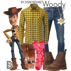 Woody by leslieakay on Polyvore featuring polyvore, Rab, 3x1, Dr. Martens, HUGO, men's fashion, menswear, clothing, disney and disneybound