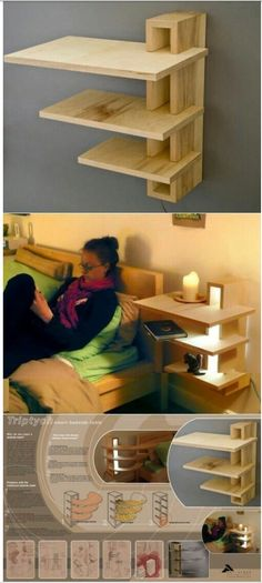 Wood projects are amazing, especially if making items to decorate your home is your thing. What's best about wood projects, is that it's . Pallet Furniture, Furniture Design, Furniture Plans, System Furniture, Unique Furniture, Furniture Projects, Outdoor Furniture, Diy Casa, Home Projects