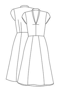 Billedresultat for snitmønster til kjole skåret på langs i tre