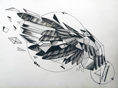 Search inspiration for a Geometric tattoo. Tattoos Masculinas, Tattoos Mandala, Celtic Tattoos, Tattoo Drawings, Tattoos For Guys, Sleeve Tattoos, Forearm Wing Tattoo, Wing Tattoo Men, Wing Tattoo Designs