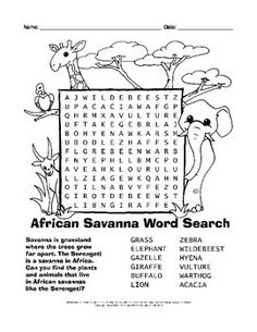 Animal Homes Word Search | Word search and Worksheets