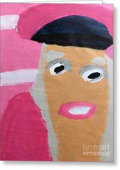 Patrick Francis Designer Greeting Card featuring the painting Nicki Minaj by Patrick Francis.