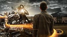 Hells Angels - Adobe Photoshop CS6 Manipulation by FlewDesigns #flewdesign #design #art #bike #angel #hell #photoshop