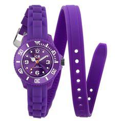 Ice TWPEMS12 Women's Ice-Twist Mini Purple Dial Purple Rubber Strap Watch