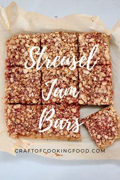 Streusel Jam Bars