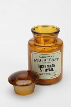 Soy wax candle hand-poured into an amber glass jar that looks as good as it smells. #urbanoutfitters
