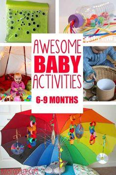 Schöne Ideen für das Spielen mit Babys. Damit nicht die Ideen ausgehen :)