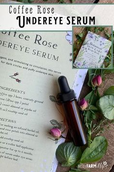 Coffee Rose Undereye Serum Dark circles or puffy skin around your eyes? Try this luxurious DIY coffee rose under-eye serum!<br> Dark circles or puffy skin around your eyes? Try this luxurious DIY coffee rose under-eye serum! Under Eye Puffiness, Rosehip Seed Oil, Dried Rose Petals, Eye Serum, Facial Serum, Facial Care, Homemade Beauty Products, Natural Products, Skin Food