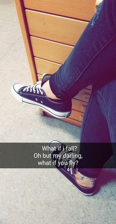 What if i fall? #qoutes #qoute #life #allstar #converse #shoes #Zitat #life #hope #love #lovemyshoes