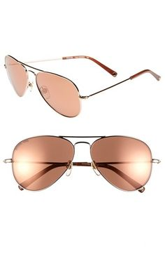 MICHAEL Michael Kors 'Dylan' 58mm Aviator Sunglasses available at #Nordstrom