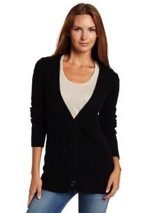 #Christopher #Fischer 100% Cashmere Women's Long Sleeve Solid V-Neck Cardigan With Gold #Buttons       Pretty color       http://amzn.to/Hamum6