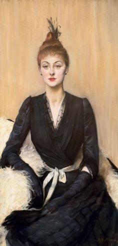 Madame de Bonnières :J.Emile Blanche  via : lesfleursdelart