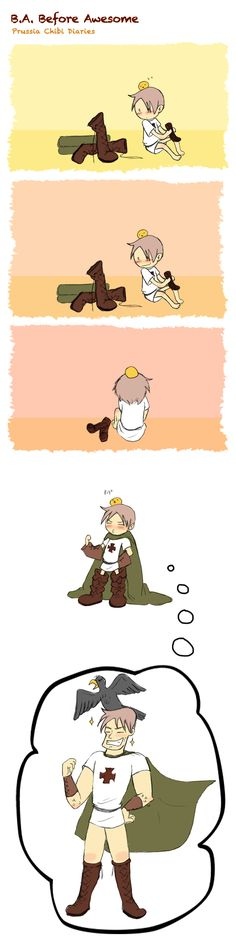 Chibi Prussia Diaries 23! Little Prussia wants to grow up to be more Awesome!