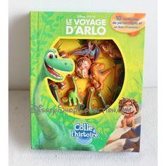 Livre Le voyage d'Arlo DISNEY colle à l'histoire personnages ventouses Phidal