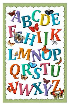 ABCs and Butterflies  Room Decoration  Alphabet by ChildsTouch, $22.00