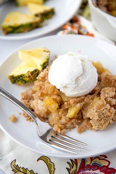 Pineapple Cobbler - a Hawaiian inspired dessert straight from Disney's Aulani Resort!