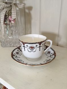 A personal favourite from my Etsy shop https://www.etsy.com/uk/listing/275922916/vintage-melba-bone-china-teacup-candle