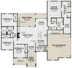House Plan Zone offers pre-drawn and custom house plans. Our specialties include Acadian and French Country house plans that offer great curb appeal. French Country House Plans, French Country Bedrooms, Craftsman Style House Plans, French Cottage, Best House Plans, Dream House Plans, House Floor Plans, Dream Houses, The Plan