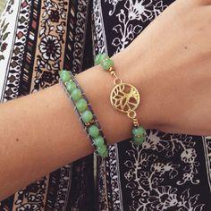 blissfullyliss.etsy.com Bohemian and beachy bracelets. Tree of life and leather wrap bracelet