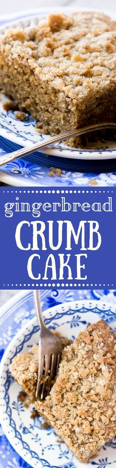 Gingerbread Crumb Cake is a moist and delicious coffee cake for a special fall or holiday breakfast! ~ theviewfromgreatisland.com