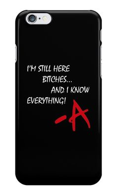 Our I'm Still Here - Pretty Little Liars Phone Case is available online now for just £5.99. Fan of Pretty Little Liars? You'll love our 'I'm Still Here, B*tches' PLL phone case. Material: Plastic, Production Method: Printed, Authenticity: Unofficial, Weight: 28g, Thickness: 12mm, Colour Sides: Black, Compatible With: iPhone 4/4s | iPhone 5/5s/SE | iPhone 5c | iPhone 6/6s | iPhone 7 | iPod 4th/5th Generation | Galaxy S4 | Galaxy S5 | Galaxy S6 | Galaxy S6 Edge | Galaxy S7 | Galaxy S7 Edge |