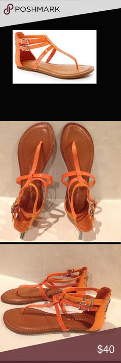 🆕GIANNI BINI KNOXE GLADIATOR SANDAL (Sz 6) Gianni Bini knoxe gladiator orange sandal . It's very elegant looking sandal with studded style , zipper at the back of the-sandal. It has 2 adjustable strap adds extra design to the style.It has leather upper , man made lining and man made sole. BRAND NEW WITH TAG. DOESN'T COME WITH A BOX. Gianni Bini Shoes Sandals