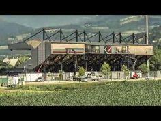 PREFA Dach- und Fassadensysteme am neuen WAC Stadion - YouTube