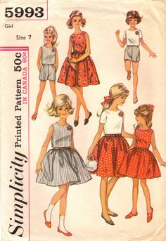 1960s Simplicity 5993 Vintage Sewing Pattern by midvalecottage