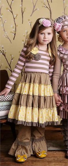 Mustard Pie *MCKENNA DRESS* Baby Yellow Sage