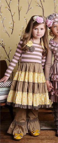 Mustard Pie *MCKENNA DRESS* Baby Yellow Sage