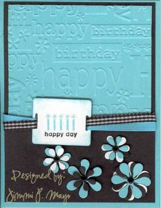 Cuttlebug Birthday CC95 by jpmayo - Cards and Paper Crafts at Splitcoaststampers
