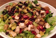 Summer Salad–Mexican Chicken Chopped Salad With Jalapeno Ranch Dressing