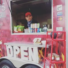 "Food trailer ""open"" sign!"