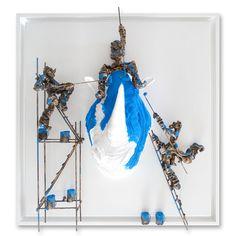 Bernard Saint Maxent Sculpture, Hanukkah, Saints, Wreaths, Painting, Character, Decor, Painted Canvas, Characters