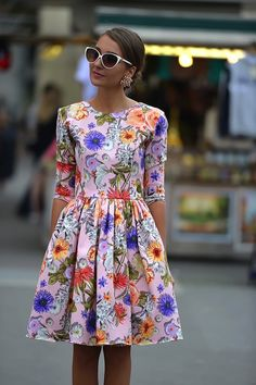 """Floral dresses ♥♡♥♡♥Thanks, Pinterest Pinners, for stopping by, viewing, re-pinning,  following my boards.  Have a beautiful day! ^..^ and """"Feel free to share on Pinterest ^..^ #streetfashion   #fashionupdates   #women"""
