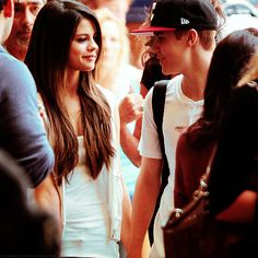 """Day 19: my thoughts on Selena I love love love Selena, and Jelena were the best couple! It breaks my heart that they broke up because she just made Justin sooo happy and if he's happy -- I'm happy! I get the whole """"she joked about making him cry"""" thing but idk.. And I'm also seeing her in concert soo.."""
